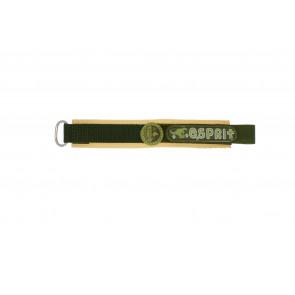 Esprit bracelet de montre ES101333002U Velcro Vert 16mm + coutures brunes