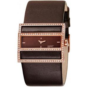 Esprit bracelet de montre ES-103072003 Cuir Brun foncé 30mm