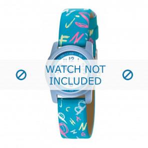 Esprit bracelet de montre 000FA4 / 000FA4029 / ES000FA4-40BL Cuir Bleu