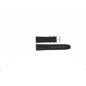 Jacques Lemans bracelet de montre FC29 / 9-201 Cuir Noir 23mm + coutures noires