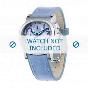 Festina bracelet de montre F16125.2 Cuir Bleu 23mm + coutures  bleues