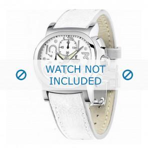 Festina bracelet de montre F16125.7 Cuir Blanc 23mm + coutures blanches