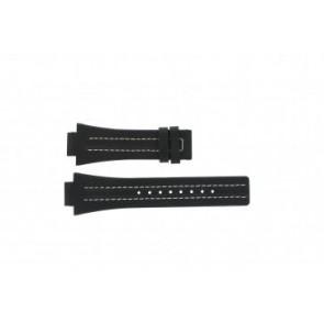 Festina bracelet de montre F16185 / 1 Cuir Noir 16mm + coutures blanches