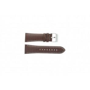 Festina bracelet de montre F16235/15 Cuir Brun 28mm + coutures blanches