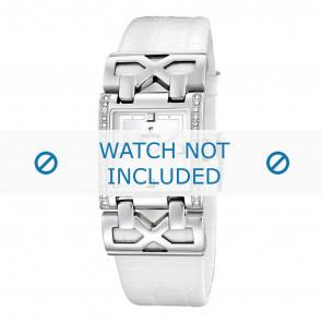 Bracelet de montre Festina F16465-1 / F16465-4 Cuir Blanc 23mm