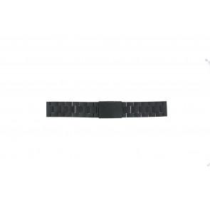 Fossil bracelet de montre FS4775 Métal Noir 22mm