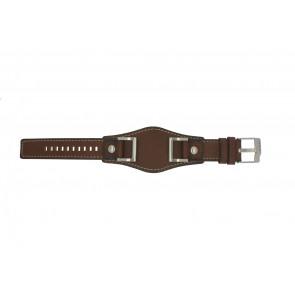 Fossil bracelet de montre JR1157 Cuir Brun 24mm + coutures défaut
