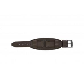 Fossil bracelet de montre JR1365 Cuir Brun foncé 22mm