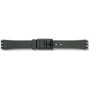Swatch bracelet de montre P38 Plastique Noir 12mm
