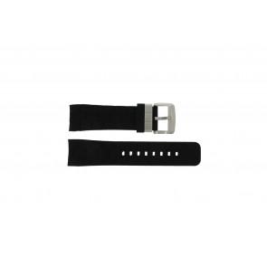 Guess bracelet de montre GC35006G1 / GC40500G1 / GC45005G En caoutchouc Noir 24mm