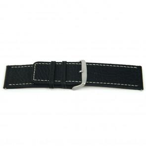 Bracelet de montre Universel J125 Cuir Noir 26mm