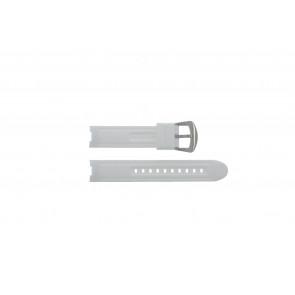 Bracelet de montre BTB.F.R.CH.05 / BTB.F.R.CH.01 Caoutchouc Blanc 19mm