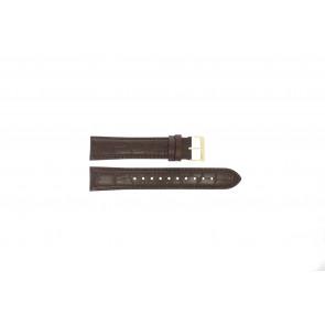 Bracelet de montre Hugo Boss HB-334-1-34-3114 / HB1513640 / HB659302886 Cuir Brun 20mm