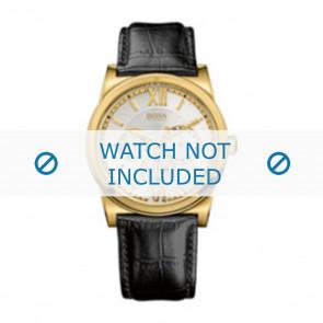 Hugo Boss bracelet de montre 1512590 / HB-127-1-34-2301 / HB659302290 Cuir Noir 23mm + coutures noires