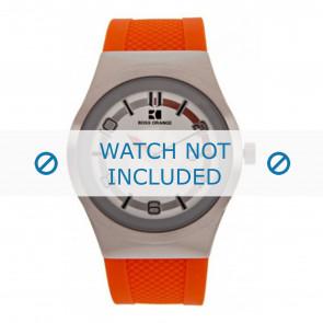 Hugo Boss bracelet de montre HB-155-1-14-2390 / HO1512693 Plastique Orange
