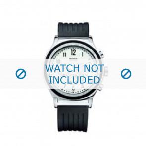 Hugo Boss bracelet de montre HB-54-1-14-2117 / HB1512324 Plastique Noir 22mm