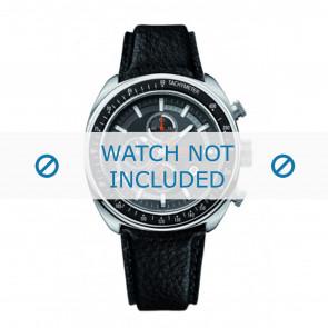 Hugo Boss bracelet de montre HB-69-1-14-2146 / HO1512377 Cuir Noir + coutures noires