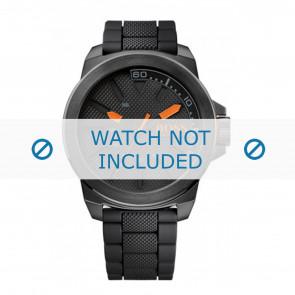 Hugo Boss bracelet de montre HO1513004 / HB-221-1-34-2625 Caoutchouc Noir 24mm