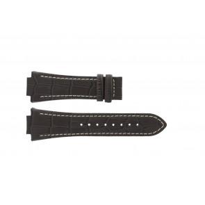 Jaguar bracelet de montre J625/4 / J620 / J620-4 Cuir Brun 28mm + coutures blanches