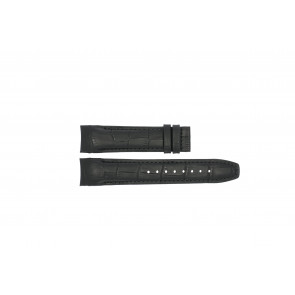 Jaguar bracelet de montre J679.A Cuir Noir + coutures noires