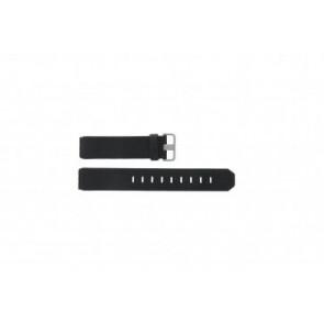 Jacob Jensen bracelet de montre 600 / 800 / 860 / 861 / 880 / 881 / 603 / 605 / 606 / 805 / 806 / 840 / 841 / 842 Cuir Noir 19mm