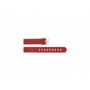 Bracelet de montre Jacob Jensen 751 SERIE Caoutchouc Rouge 17mm