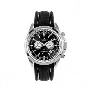Bracelet de montre Jacob Jensen 1-1117AN Cuir Noir 22mm