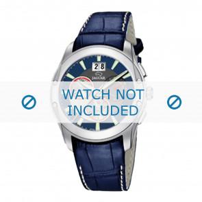 Jaguar bracelet de montre J615-2 Cuir Bleu 22mm + coutures blanches