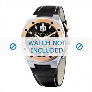 Jaguar bracelet de montre J625/1 Cuir Noir 28mm + coutures blanches