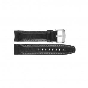Jaguar bracelet de montre J650-LED / J650/1 / J650/X / J651/1 / J652/1 / J653 Cuir Noir 22mm + coutures blanches