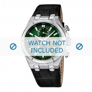 Jaguar bracelet de montre J667/3 / J667/4 Cuir Noir 28mm + coutures noires