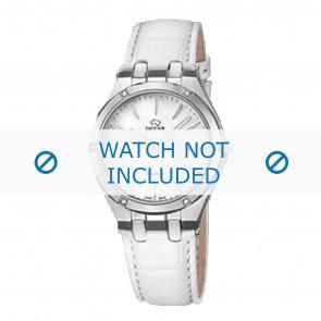 Jaguar bracelet de montre J674-1 / J674-7 Cuir Blanc + coutures blanches