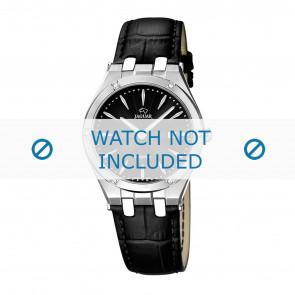 Jaguar bracelet de montre J674-3 / J674-5 Cuir Noir + coutures noires