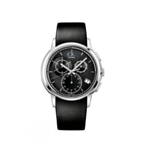Bracelet de montre Calvin Klein K1V27102 / K600000091 Cuir Noir 22mm