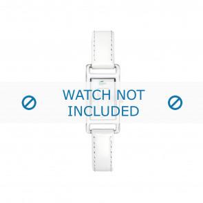 Lacoste bracelet de montre 2000367 / LC-05-3-19-0066 Cuir Blanc 12mm + coutures blanches
