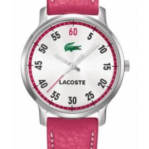 Bracelet de montre Lacoste 2000567 / LC-41-3-14-2199 Cuir Rose 20mm
