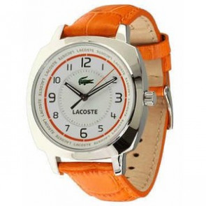 Bracelet de montre Lacoste 2000600 / LC-47-3-14-2233 Cuir Orange 18mm