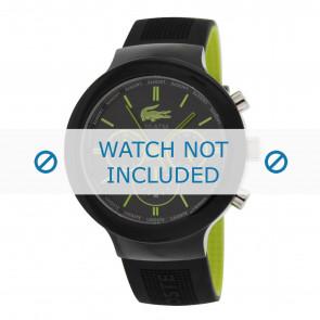 Lacoste bracelet de montre 2010650 / LC-61-1-29-2347 Caoutchouc Noir 16mm
