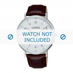 Lorus bracelet de montre VJ21 X071 / RH895BX9 Cuir Brun 20mm + coutures brunes