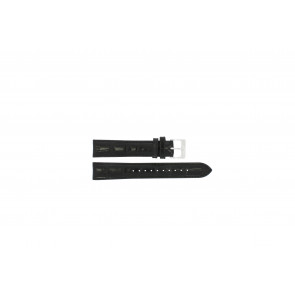 Lorus bracelet de montre RR033X Cuir Noir 18mm
