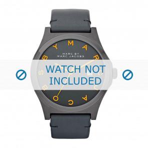 Marc by Marc Jacobs bracelet de montre MBM1216 Cuir Gris anthracite + coutures grises