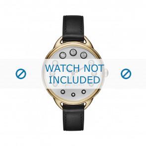 Marc by Marc Jacobs bracelet de montre MJ1479 Cuir Noir 12mm + coutures noires