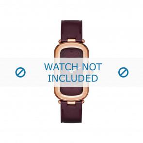 Marc by Marc Jacobs bracelet de montre MJ1483 Cuir Bordeaux 14mm + coutures défaut