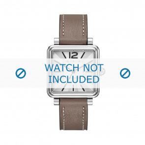 Marc by Marc Jacobs bracelet de montre MJ1518 Cuir Taupe 16mm + coutures blanches