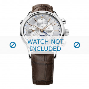 Maurice Lacroix bracelet de montre LC6078-SS001-131 Cuir Brun + coutures brunes