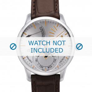 Maurice Lacroix bracelet de montre MP6528-SS001-130 Peau de crocodile Brun + coutures brunes