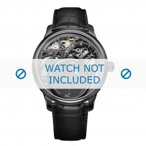 Maurice Lacroix bracelet de montre MP6558-PVB01-092 Peau de crocodile Noir + coutures noires