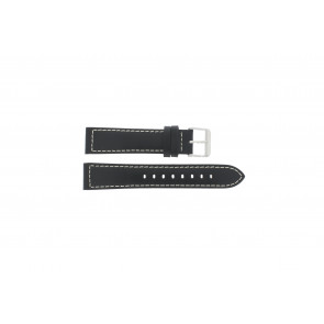 Max bracelet de montre Z22 Cuir Noir 22mm + coutures blanches