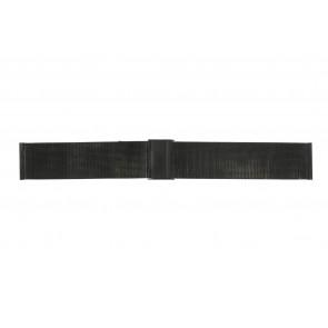 Bracelet de montre WoW MESH-22.1.5BL Acier Noir 22mm