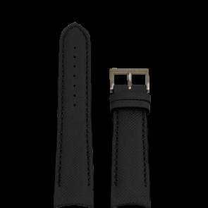 Nautica bracelet de montre A15102G / A24520G / N16553G Silicone Noir 22mm + coutures noires